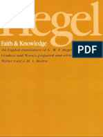 Hegel, G.W.F. - Faith & Knowledge (SUNY, 1977)