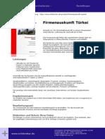 Firmenauskunft Türkei