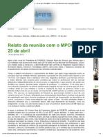 Imprimir - Relato da reunião com o MPOG – 25 de abril _ PROIFES - Fórum de Professores das Instituições Federais de Ensino Superior