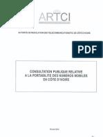 Consultation Publique Portabilite Numero