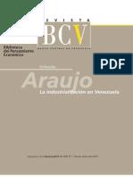 Araujo O Industrializacion en Venezuela
