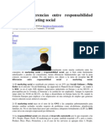 Diferencias Entre RSE y Marketing Social