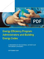 Energy Efficiency Program Administrators and Building Energy Codes