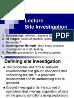 Lecture Site Investigation