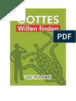 Gottes Willen finden - Zac Poonen