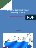 Sistemul administrativ al Federaţiei Ruse