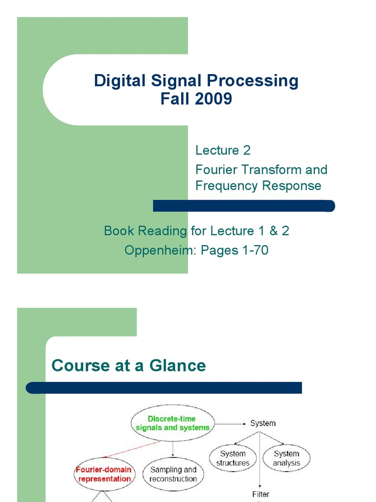 digital signal processing and fourier transform Digital signal processing part 3 – fourier transform tiberia todeila published by tiberia todeila at december 7 intro to digital signal processing using.
