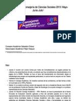 Cuenta Pública Consejería Sociales 2013 Mayo-Junio-Julio
