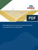 Caracterizacion Lana Mineral de Vidrio