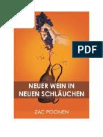 Neuer Wein in neuen Schläuchen - Zac Poonen