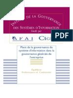 Place Gouvernance SI Dans Gouvernance Generale