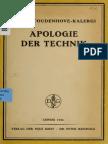 Coudenhove-Kalergi, Richard Nicolaus - Apologie der Technik (1922)