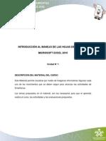 Introduccion Al Manejo Hojas de Calculo
