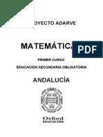 Programacion Matematicas 1ESO Andalucia
