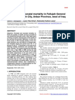 Perinatal and neonatal mortality in Fallujah General Hospital, Fallujah City, Anbar Province, west of Iraq