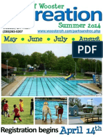Wooster Recreation Summer 2014 Brochure