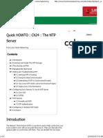 Configure the NTP Server