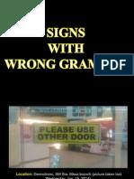 Grammar Errors on Signs