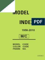 Yamaha Model Index 1958-2010