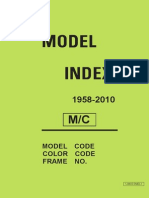 Yamaha Model Index 1958-2010