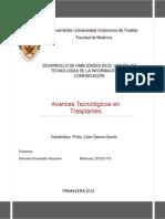 AVANCES TECNOLÓGICOS EN TRASPLANTES