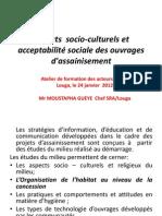 aspects socio-culturels et acceptabilité sociale des ouvrages d'assainisement