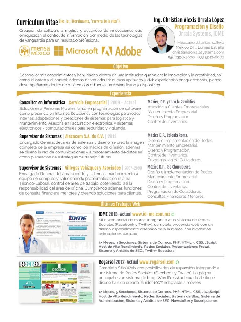 Bonito Objetivo De Currículum Del Desarrollador Web Php Colección de ...