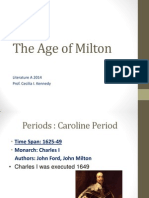The Age of Milton Presentation