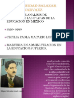 Analisis de Las Etapas de La Educacion
