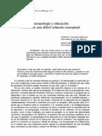 Antropologia y Educacion Nota Sobre Una