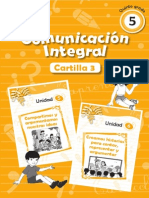 Cartilla 3 Comunicación Integral 5to. Grado