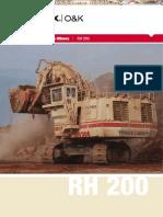 Catalogo Pala Excavadora Hidraulica Rh200 Terex