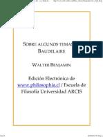 Sobre Algunos Temas en Baudelaire - Esc_frank_benjam0012