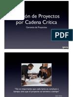 1. Gestion de Proyectos Con Cadena Critica