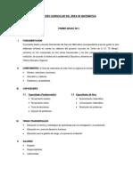 DISEÑO CURRICULAR DEL ÁREA DE MATEMÁTICA - Ginanina