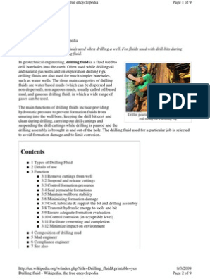Introduction of Drilling Fluid in Oil & Gas Indutry