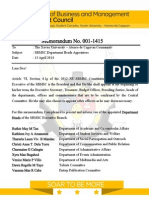 Memorandum 001 1415