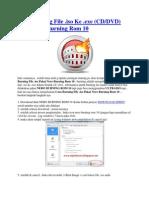 Cara Burning File ISO Ke CD and DVD Pakai Nero Rom 10