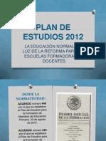 PRESENTACIÓN PLAN 2012