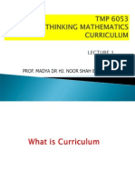 Curriculum Maths