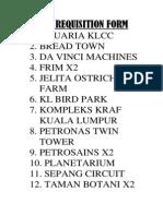 LIST OF RF