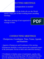 Conducting Meetings 203