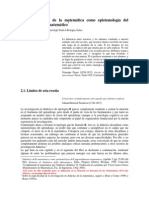 La Didactica de La Matematica Como Epistemologia Del Aprendizaje Matematico