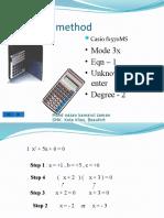 Faktor Menggunakan Kalkulator