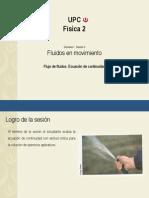 Clase 3 - Flujo de Fluidos, ecuación de continuidad.