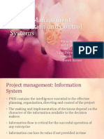 Project Management Information and Control Systems Final Ppt
