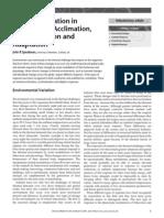 Volume Issue 2001 [Doi 10.1038_npg.els.0001825] Speakman, John R -- Encyclopedia of Life Sciences Thermoregulation in Vertebrates- Acclimation, Acclimatization and Adaptation