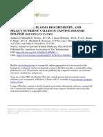 Journal of Zoo and Wildlife Medicine Volume 43 Issue 4 2012 [Doi 10.1638%2F2012-0002R1.1] Persky, Meredith E.; Williams, J. Jason; Burks, Renae E.; Bowman -- HEMATOLOGIC, PLASMA BIOCHEM