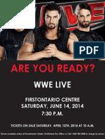 Sample Poster - WWE LIVE - Global Spectrum (Internship Work)