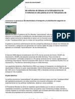 Bolivia nacionaliza generación eléctrica